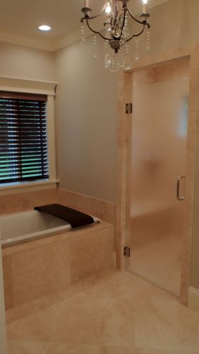 Seamless walk-in shower