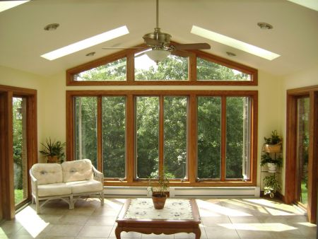 Sunroom addition adds daylight to home
