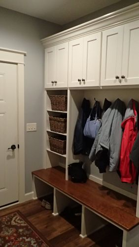 Built-in Mud Room cabinetry